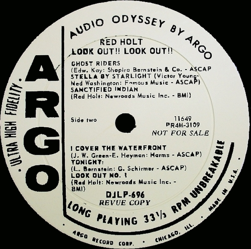 "Red Holt : Album "" Look Out !! Look Out !! "" Argo Records LPS-696 [ US ] 1962"
