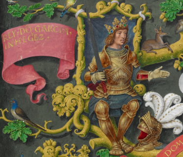Garcia Iñiguez de Pamplona -The Portuguese Genealogy (Genealogia dos Reis de Portugal).png