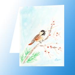Carte postale : Oiseau sur une branche