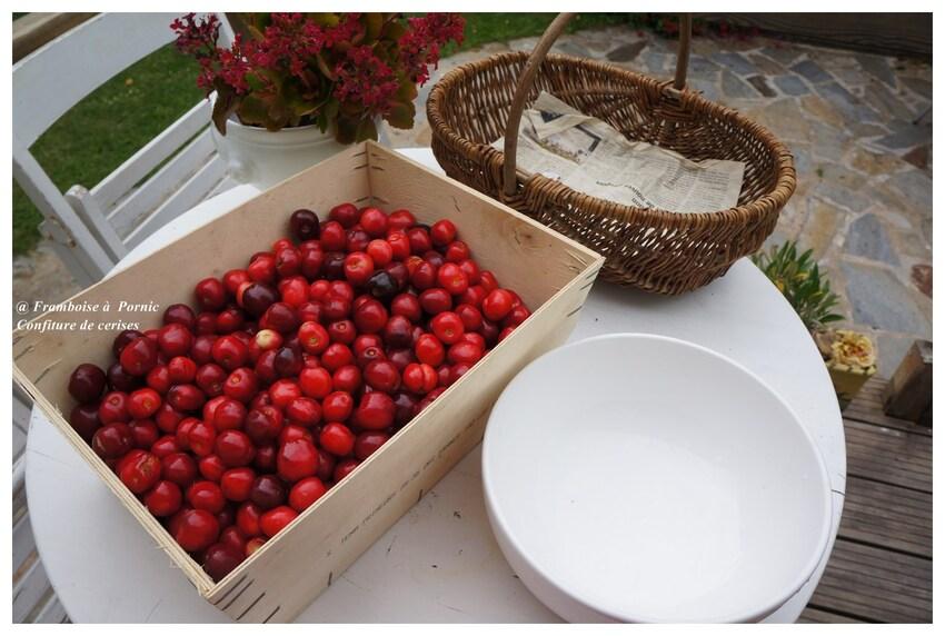 Confiture de cerises à la vanille