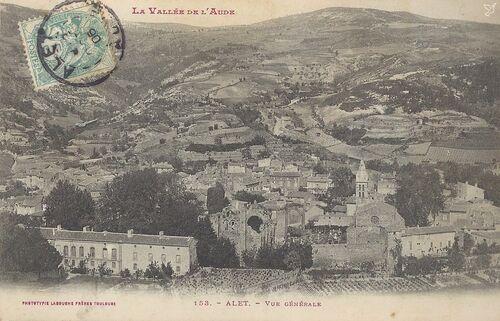 Alet-les-Bains, la Vallée de l'Aude,153. Alet (Vue générale), Phototypie, Labouche frères, Toulouse.