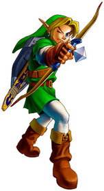 Link readies his Fairy Bow - <i>Ocarina of Time 3D</i>