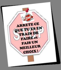 """Cartes """"Stop"""" pour ne pas crier !"""