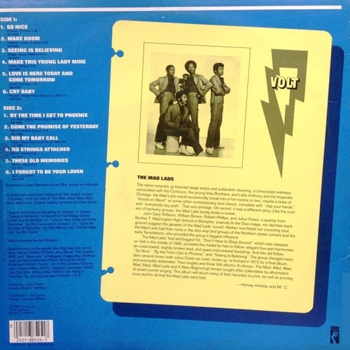 "The Mad Lads : Album "" The Best Of The Mad Lads "" Volt Records SCD-8525-2 [ US ]"