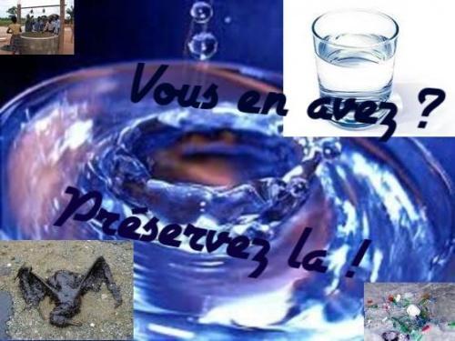 Image sur la préservation de l'eau.