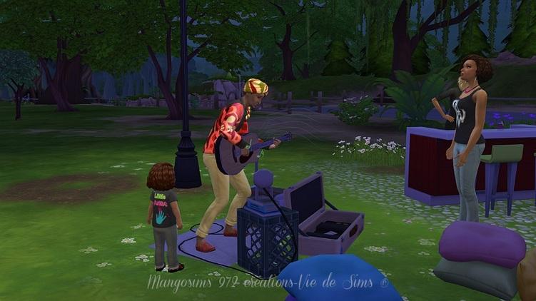 #Sims 4 le parc des Capucines