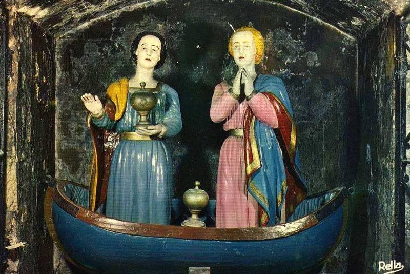 Saintes Marie de Cléophas et Salomé, elles entendirent les premières l'annonce de la résurrection. (1er s.)