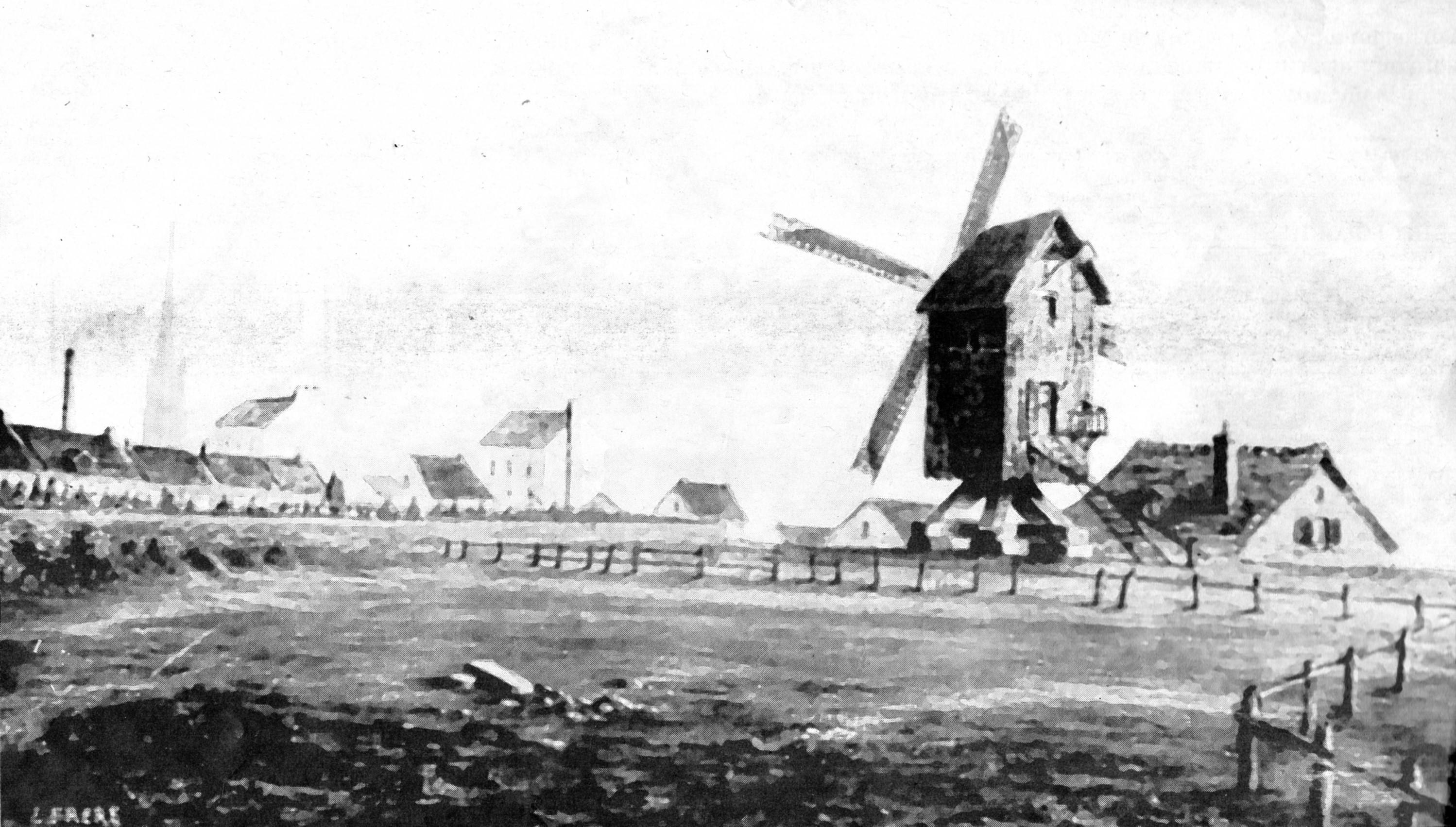 Un Moulin Vent En Centre Ville La Fin Du XIXe Sicle CALAIS Le Peintre
