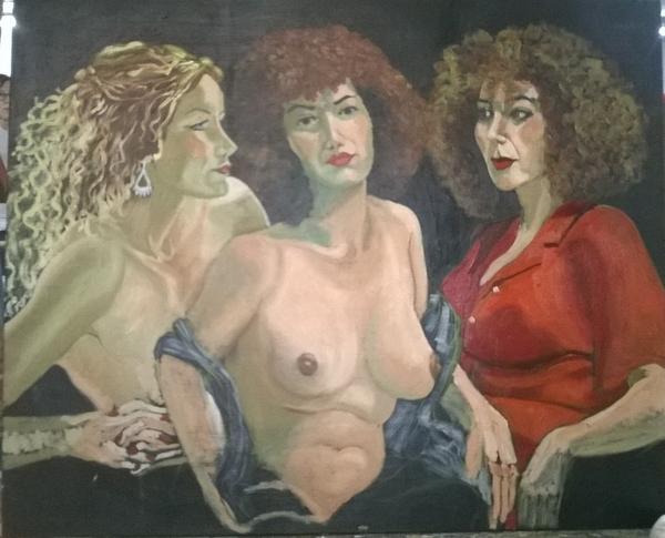 Dimanche - En cours : Peinture à l'huile, trois femmes (4)