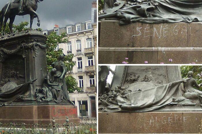 """""""Assassin"""", """"colon"""" : à Lille, la statue du général Faidherbe a été taguée"""