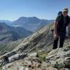 Au sommet du pic Crabère (2590 m) devant Monte Perdido et Taillon