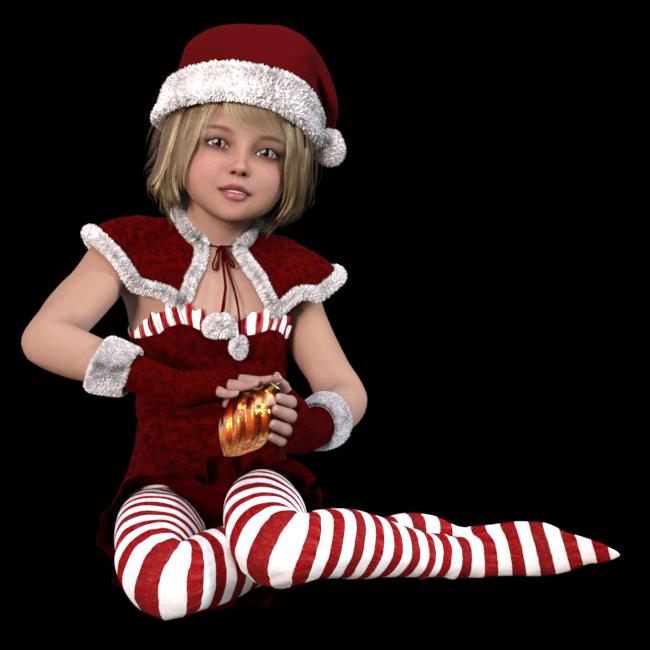Tube jeune Mère Noël  (render-image)