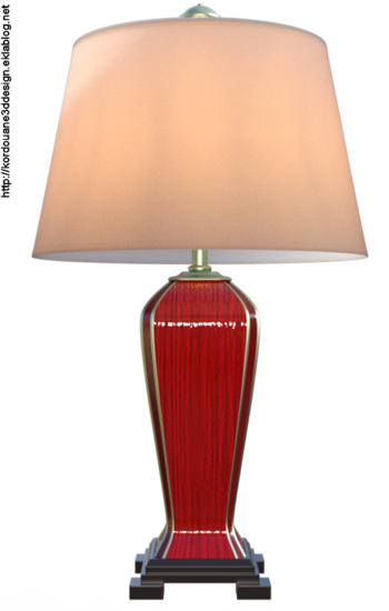 Image lampe de salon (render-tube)