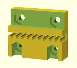 Charriot multi-extrudeuse pour imprimante 3D QU-BD OneUp ou TwoUp
