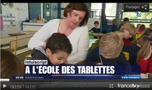Tablettes : apprentissage du geste d'écriture