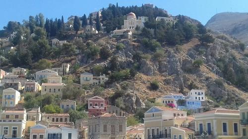 SIMI  LE  MONASTERE EN GRECE A RHODES (Photos d'une amie)