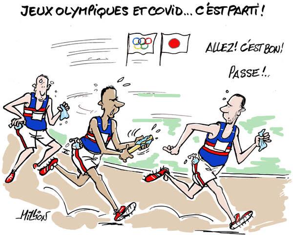 Rions des Jeux Olympiques et des vavances...un peu gâchées par le covid Delta...