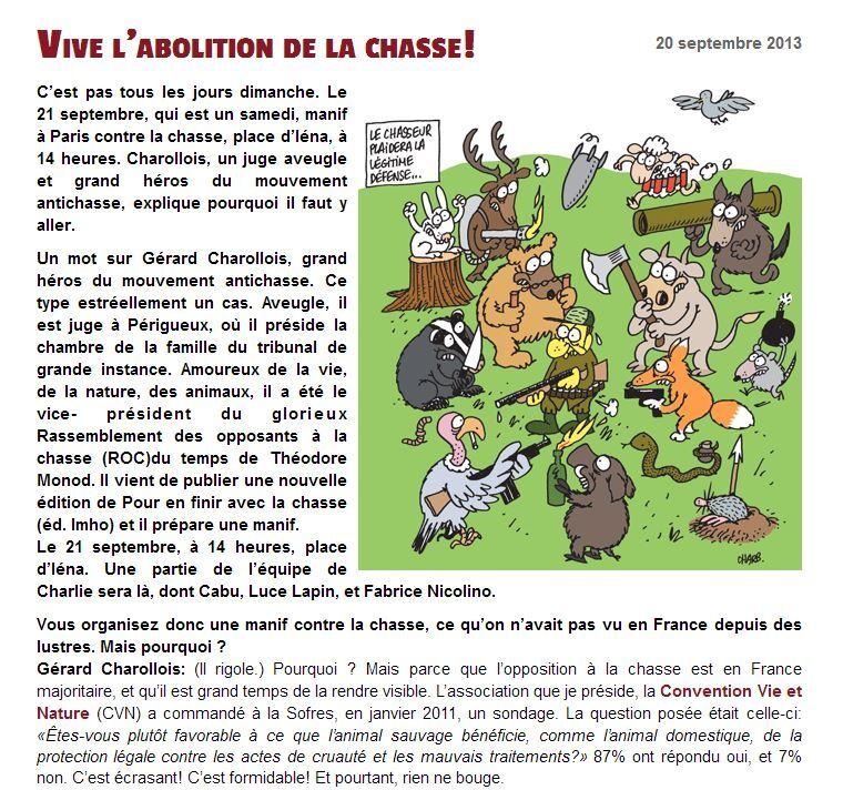 Article de Charlie Hebdo