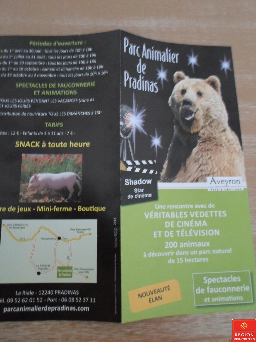 Parc animalier de PRADINAS 12   24-05-2015    1/7  D 30/03/2016