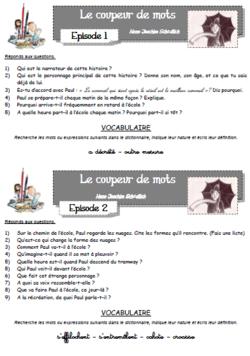 SOMMAIRE DES QUESTIONNAIRES DE LECTURE