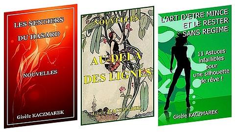 Les 3 livres de Gisèle Kaczmarek pour le plaisir de lire au prix total de 22€