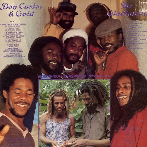 "Don Carlos & Gold With The Gladiators : Album "" Showdown Vol. 3 "" Channel One Records JJ-164 [ US ]"