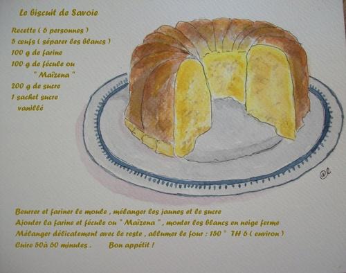 Le biscuit de Savoie .