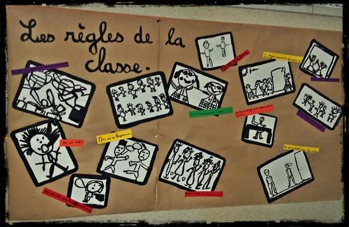 Photo des règles de vie de la classe