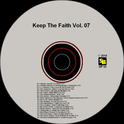 """Various Artists : CD """" Keep The Faith Volume 7 """" Soul Bag Records DP 60 [ FR ]"""
