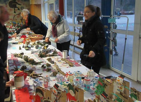 Le marché de Noël de l'école Saint-Bernard de Châtillon sur Seine...