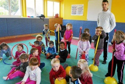 Les petits de l'école Saint-Jean ont participé, jeudi, à leur dernière séance de motricité.