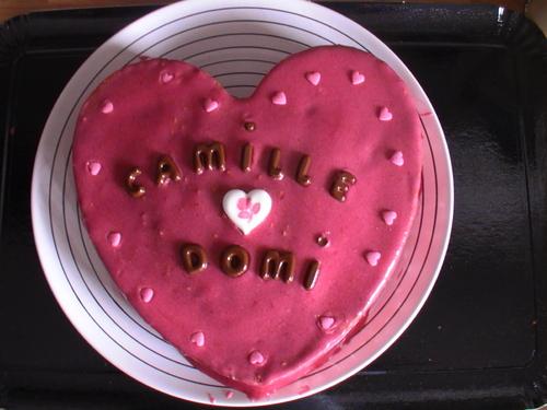 Gâteau coeur à la framboise