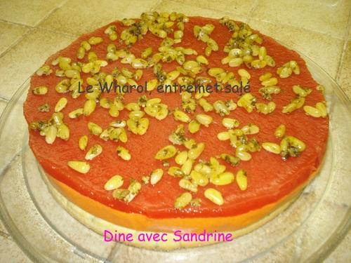 Le Wharol: Entremet salé aux Poivrons rouges, Pesto, Tomates et Parmesan
