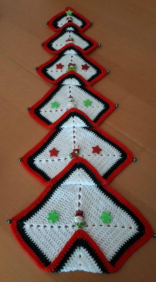 Sapin de Noël au crochet