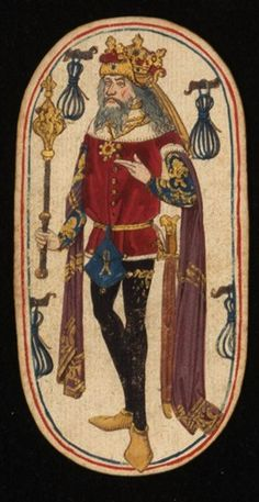 King (3), from the Cloisters set of fifty-two playing cards, ca. 1470–1485, South Netherlandish.