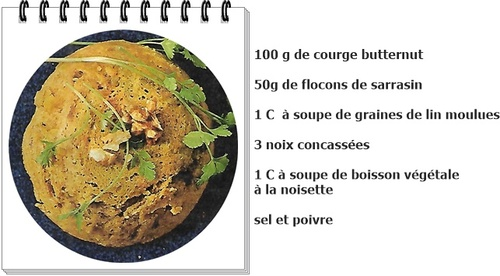 Bowl cake courge butternut/noix