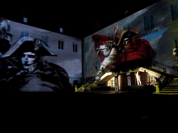 """""""Un aigle sur la ville"""" un grand spectacle son et lumière sur la vie de Napoléon à Châtillon sur Seine, Ville Impériale !"""