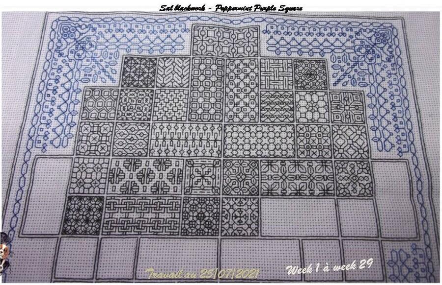 Sal blackwork 2021 Peppermint Purple Square #21 ==> #29