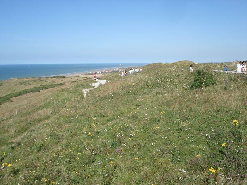 Bleu, vert, jaune, blanc, la côte d'Opale etc...