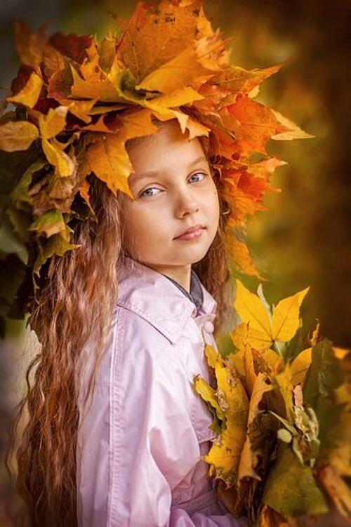 Enfants et l'automne