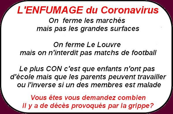 le Conoravirus s'invite dans la bande à Macron, ce sont les infos du poissonnier.