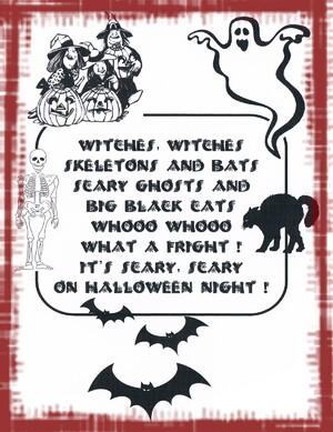 Halloween en comptine