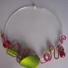collier alu rouge 14euros