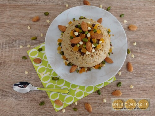Bowl cake abricots, pistaches et amandes