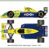 Benetton-Ford B-190B Formule 1 - 1991
