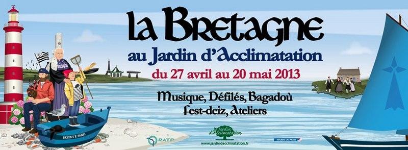 affiche la Bretagne à Paris Boulogne parc
