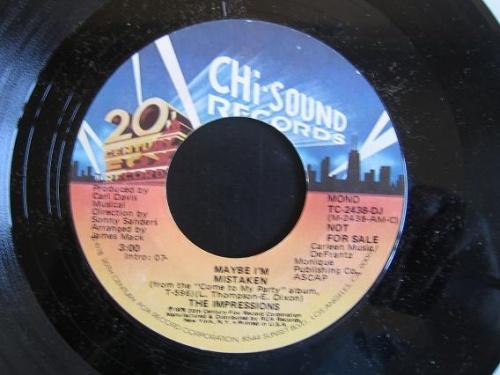 1979 : Single 12 Inch Chi Sound 20Th Century Fox Records TC 2438 [ US ]