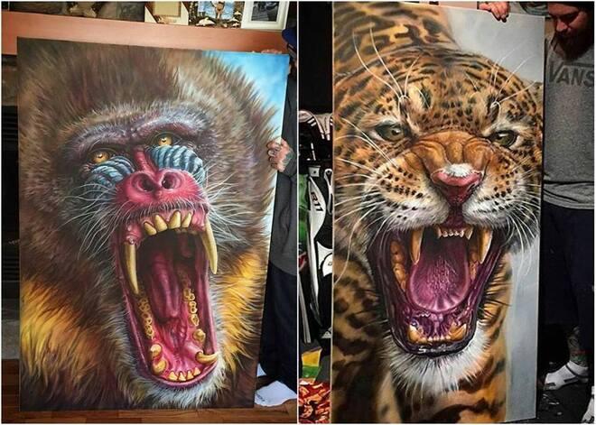 Realistic Animal Drawings byDerek Turcotte