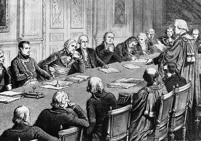 Discussion sur le Code civil au Conseil d'État, en présence de Bonaparte