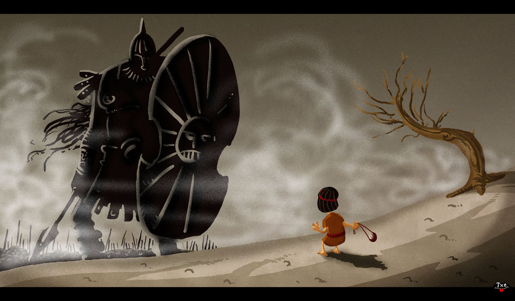 DAVID AND GOLIATH by themico
